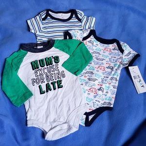 4/$24 - 3 Baby Onesies